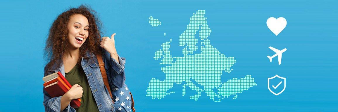seguro viaje estudios Europa