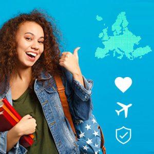 eguro viaje estudios Europa